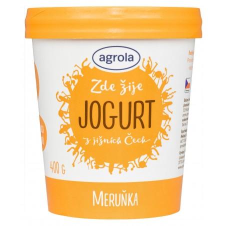 Agrola jogurt z jižních Čech meruňka – papír