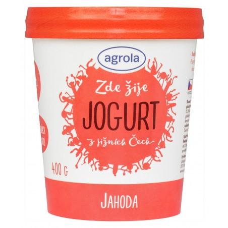 Agrola jogurt z jižních Čech jahoda – papír