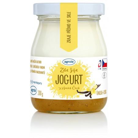 Agrola jogurt z jižních Čech vanilka lusk – sklo