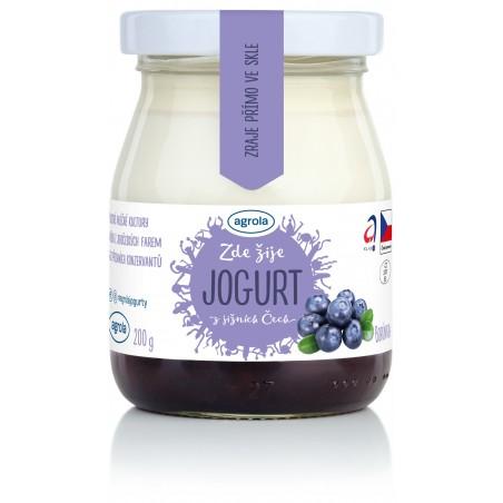 Agrola jogurt z jižních Čech borůvka – sklo