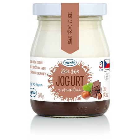 Agrola jogurt z jižních Čech čoko-oříšek – sklo