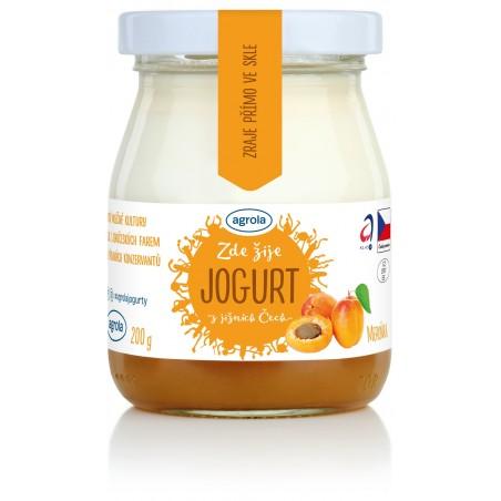Agrola jogurt z jižních Čech meruňka – sklo