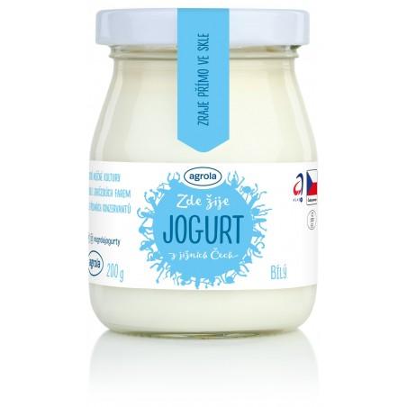 Agrola jogurt z jižních Čech bílý – sklo