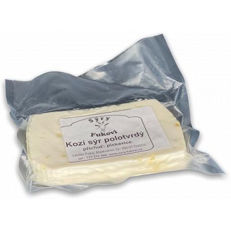 Kozí sýr polotvrdý - s pískavicí